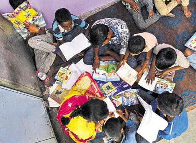 The UT education department says that there is no available budget to appoint voluntary teachers at present since the Centre had withdrawn the funds few months ago.