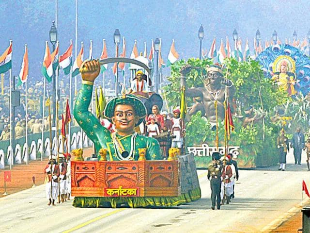 Karnataka's Republic Day Tableau last year had featured Tipu Sultan prominently.