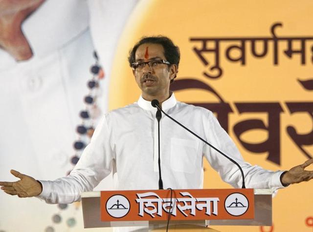 File photo of Shiv Sena chief Uddhav Thackeray addressing the dussehra rally at Shivaji Park Dadar in Mumbai.