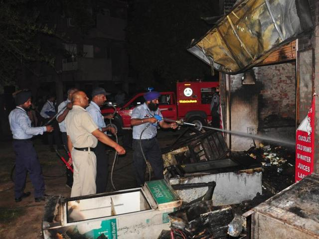A major tragedy was averted at Married Doctors' Hostel, PGI, when an LPG cylinder had triggered a blast on May 17.