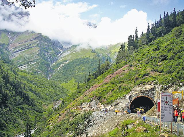 The 8.8 km tunnel, which is under construction since 2009, will provide all-weather road connectivity to the tribal Lahaul Spiti district, which remains cut off for six months every winter.