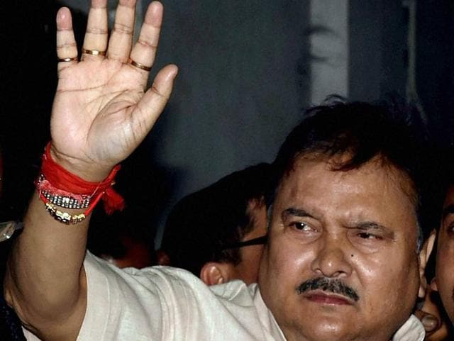 A file photo of West Bengal transport minister Madan Mitra, ,an accused in the Saradha scam.