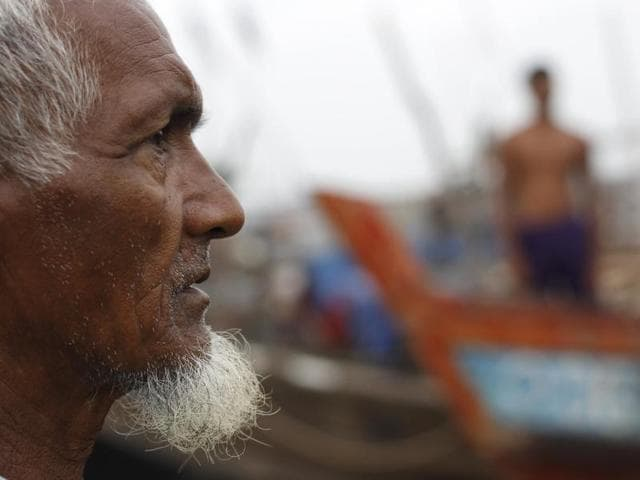 A Muslim Rohingya man is seen at a fishing port at a refugee camp outside Sittwe. As Myanmar heads to the polls on November 8 the plight of its Muslim minority remains a blot on what is billed as the country's first free and fair election for 25 years.