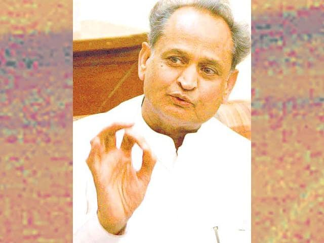 File photo of former Rajasthan chief minister Ashok Gehlot.