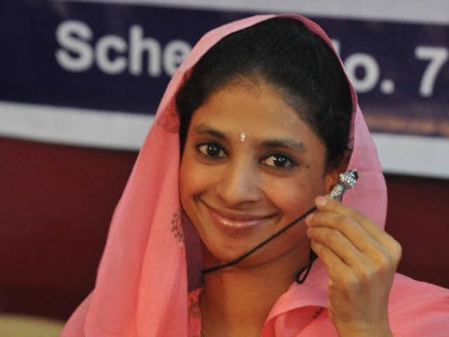 Geeta,Geeta welcomed in Indore,Indian girl stranded in Pakistan