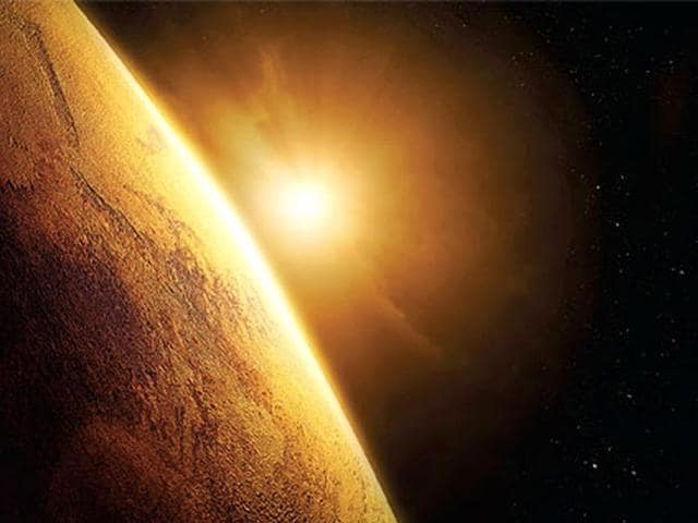 Sun destroyed Mars' atmosphere.