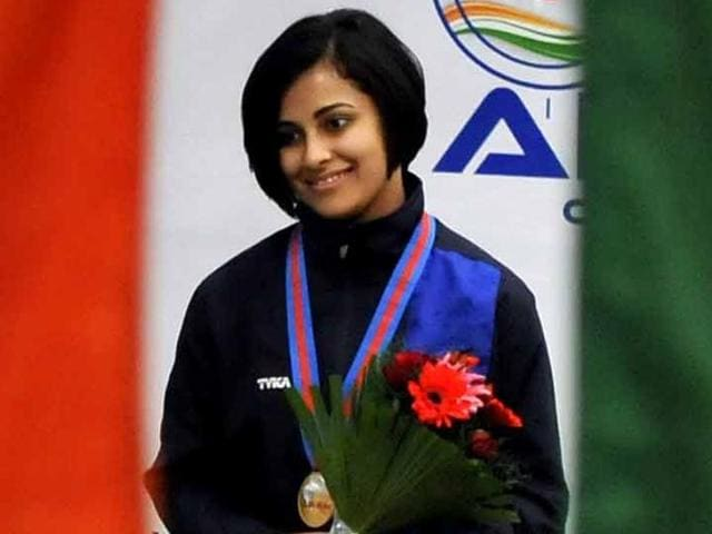 Heena, who won a gold at the righth Asian Air Gun Championship at home recently, shot an excellent 198.2 in the finals to edge out Mongolian Gundegma Otreyad, who shot 198.