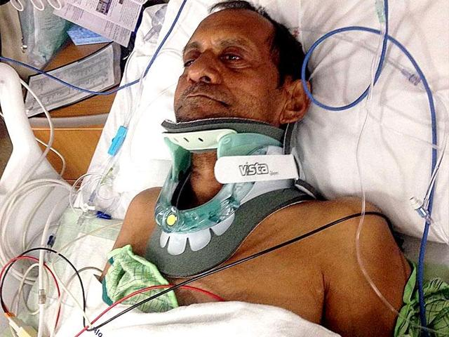 57-year-old Sureshbhai Patel was partially paralysed in the US when a police officer forced him on ground. (Photo courtesy- al.com)