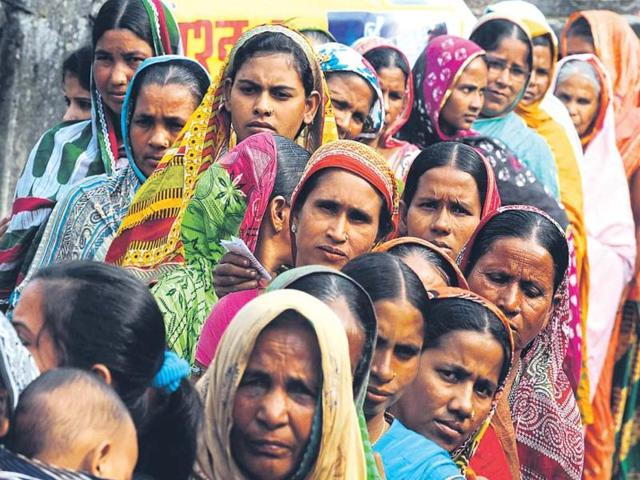 Large-scale migration resulted in women outnumbering men during the entire voting exercise in Bihar.