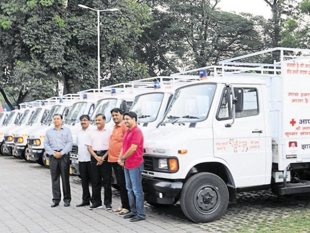 Ambulances for transport of sick cows in Ranchi. But in the state, 108 emergency ambulance service for humans not yet in place.