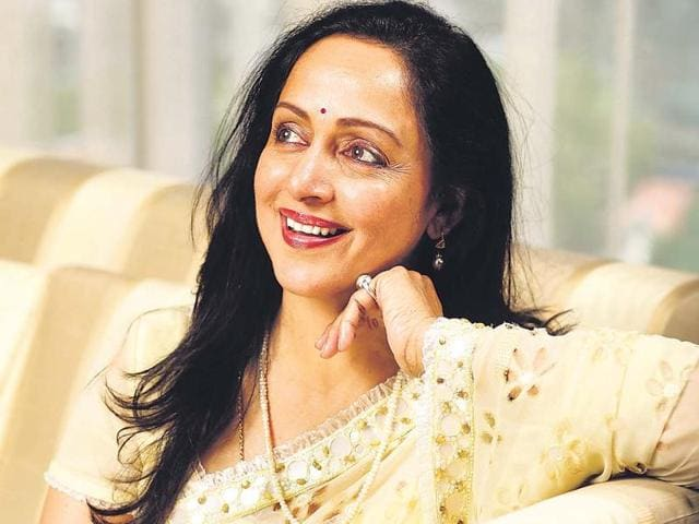 Actor-politician Hema Malini.