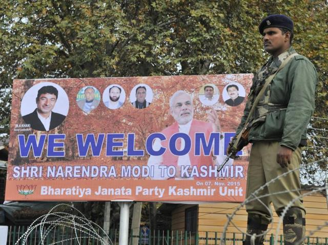 PM Modi's visit to J-K,BJP-PDP alliance,Militancy in Kashmir