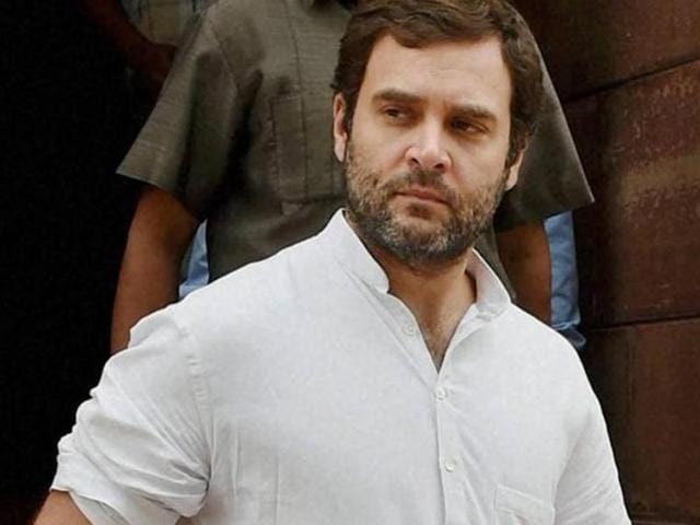 """Congress vice president Rahul Gandhi said that his party was the """"biggest force"""" fighting RSS."""