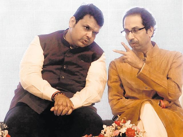 The saffron allies fought an intense election for control of KDMC, seen as a precursor to the Mumbai civic polls battle in 2017, which also saw Sena chief Uddhav Thackeray (right) being pitted against chief minister Devendra Fadnavis.