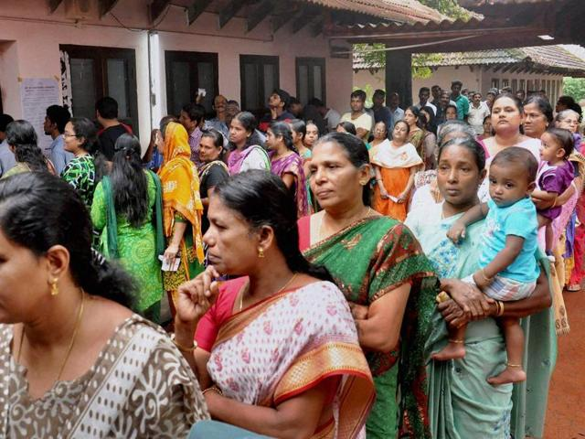 Kerala civic polls,Voting,LDF