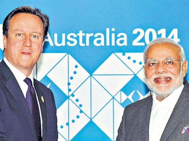"""Calling Britain a """"special partner"""", Modi wrote that 1.5 million British Indians constituted an """"indelible human bond"""" between the two countries."""