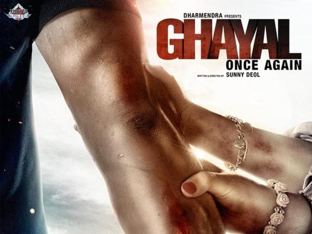 Ghayal Once Again,Ghayal Once Again first poster,Sunny Deol