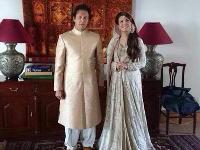 Imran Khan, cricket legend-turned-politician, tied the knot with former BBC journalist Reham Khan. (Photo courtesy: Twitter account @RadioPakistan)
