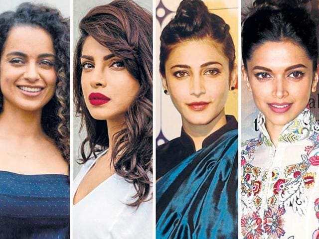 From bold berry lips offset with big romantic waves to a classic pair of cat-eyes complimented with winter-pastels -- here are beauty cues, courtesy Bollywood's glamerinas.