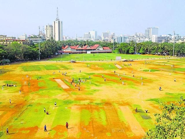 An aerial view of Azad Maidan in Mumbai. A controversial open spaces policy could get a crucial nod on Monday.