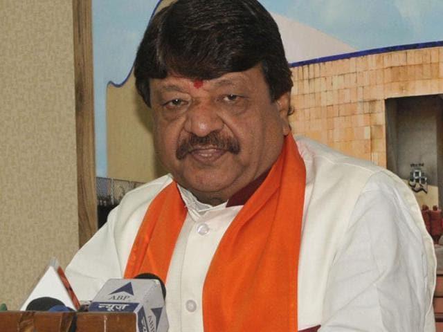 BJP's general Secretary Kailash Vijayvargiya in Bhopal, India, on  November 5, 2015. Vijayavargiya, on Monday, likened BJP MP Shatrughan Sinha to a dog.