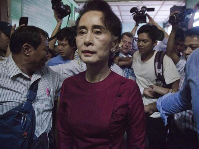 "Aung San Suu Kyi insists that the constitution will not keep her down if the NLD wins, saying she will ""be above the president."""
