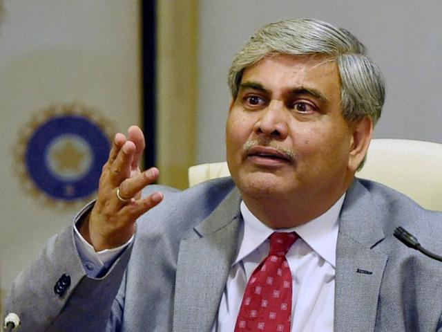 BCCI president Shashank Manohar interacts with media after the AGM at the BCCI headquarters in Mumbai on Monday.