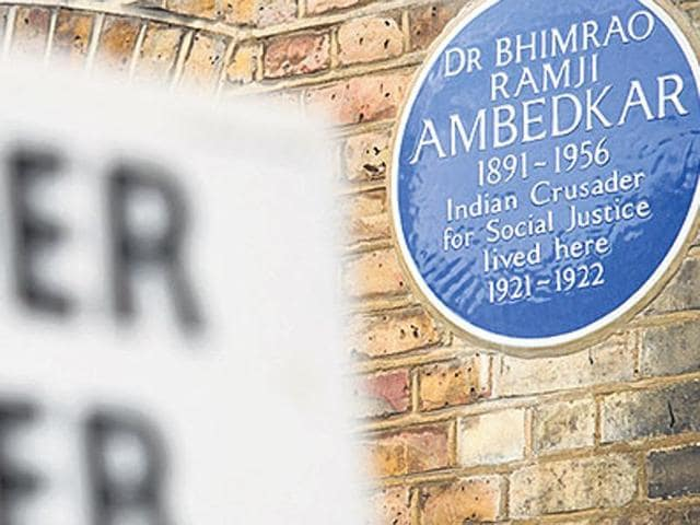 A view of the former home of Dr Bhimrao Ramji Ambedkar in north London. (AFP Photo)