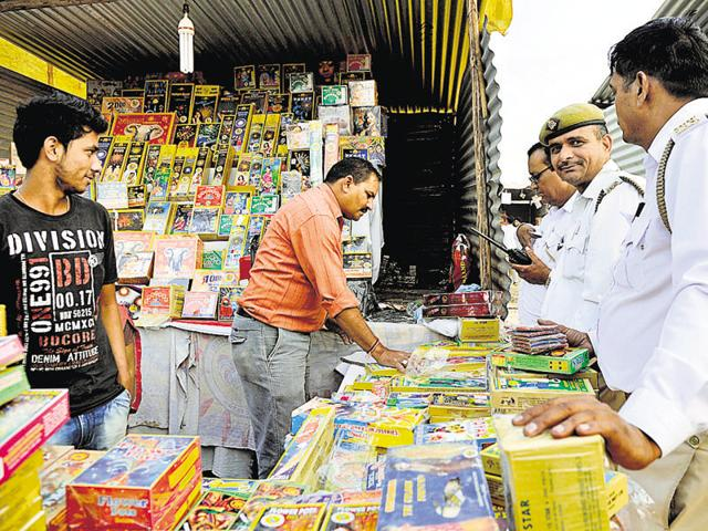 Shop owners said some of the crackers which are in high demand this year are 'anar', pistol, 'chakri'.