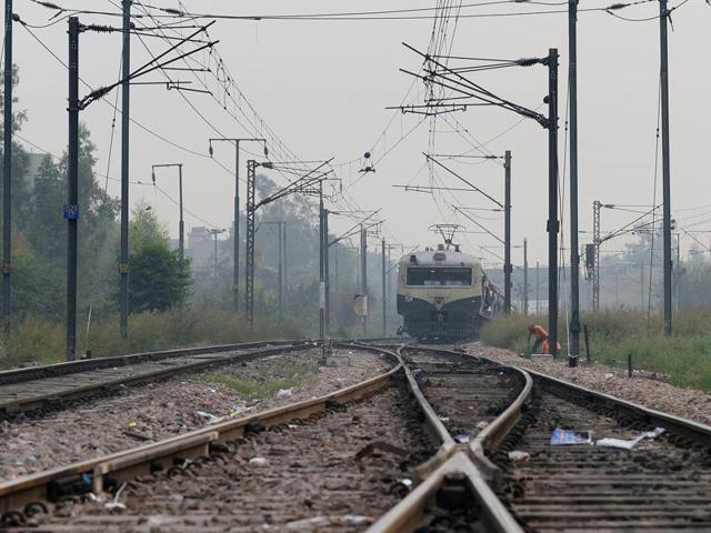 File photo of an Indian Railways passenger train, in New Delhi. French engineering firm Alstom has won a contract worth $3 billion to modernise the vast train network, the government said.
