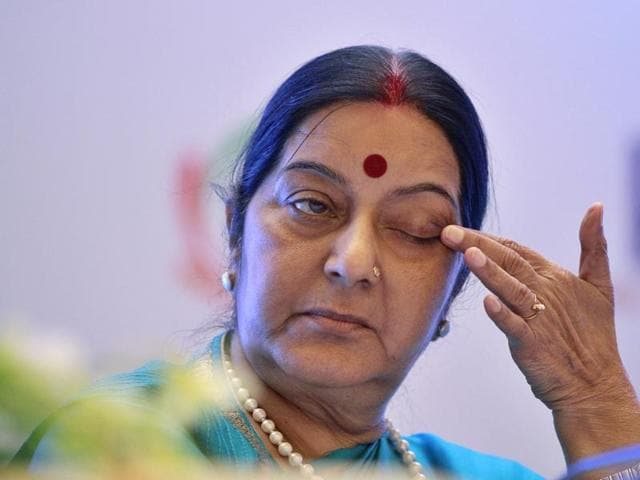 India's external affairs minister Sushma Swaraj at the Indo-Africa summit in New Delhi last month.