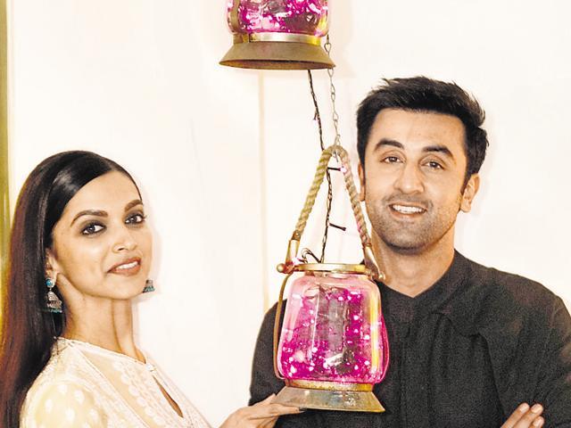 Deepika Padukone and Ranbir Kapoor at Cafe Terra, in Bandra, in Mumbai, India, on Saturday, November 7, 2015. (Photo by Vidya Subramanian/ Hindustan Times)