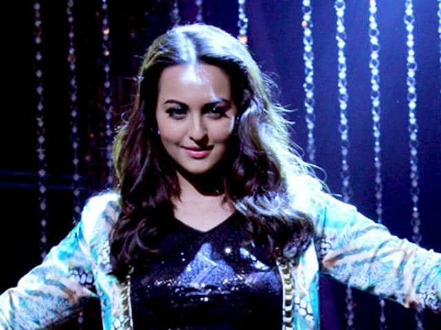Sonakshi Sinha gears up for her performance at the grand finale of Indian Idol Junior 2. (AFP Photo)