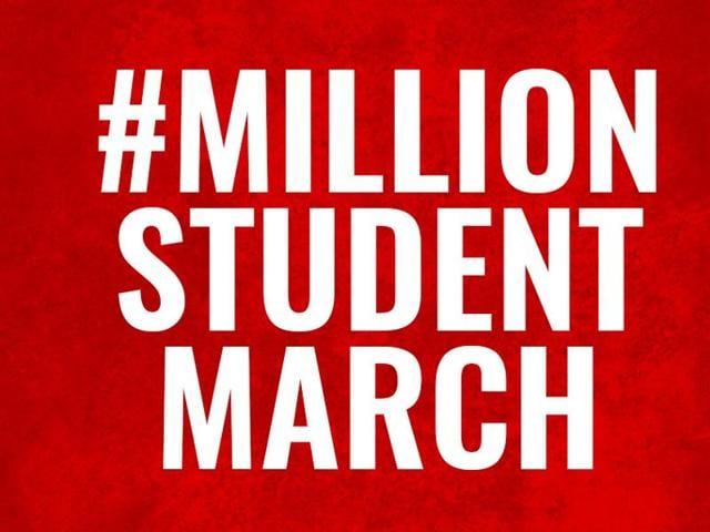 The student protests, dubbed the Million Student March, have been planned at colleges and universities from Los Angeles to New York.