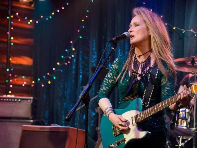 Meryl Streep in a still from the film Ricki and The Flash.