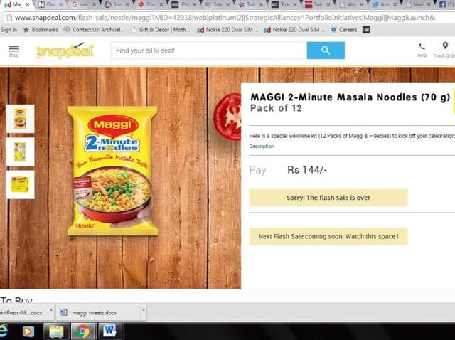 Maggi,Flash Sale,Snapdeal