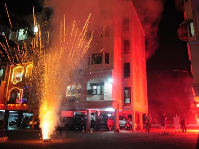 Bhopal residents celebrated the festival of lights with great fervor on Wednesday.
