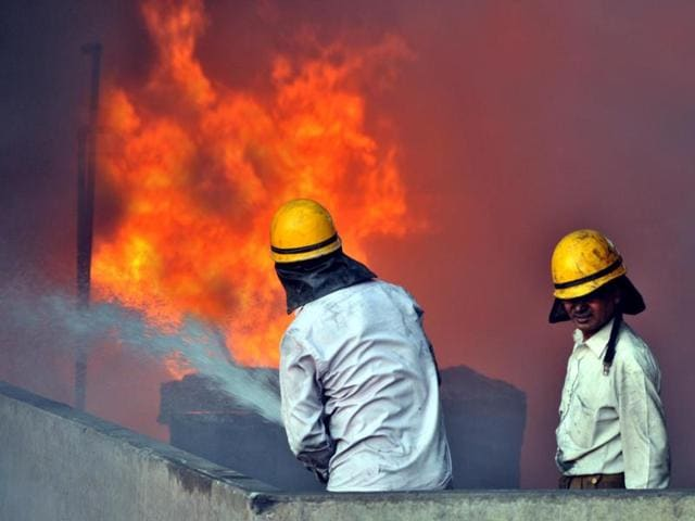 As many as 12 fire tenders, called from Kapurthala, Kartarpur and Phagwara besides a special foam tender of the Indian Oil Corporation, doused the fire by 7am on Thursday.