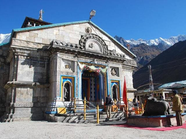 File photo of Kedarnath shrine.