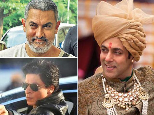 The Khan trio: Aamir Khan, Salman and SRK.