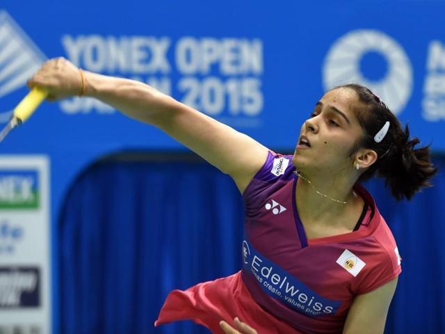 A file photo of Saina Nehwal in action.
