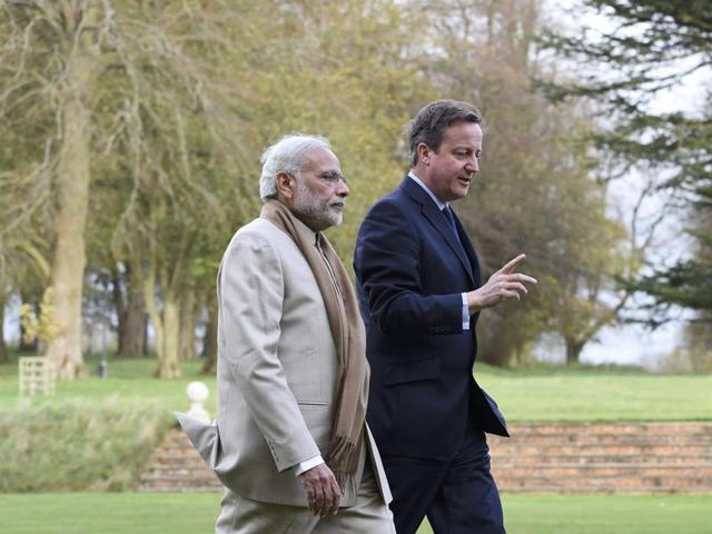 Modi in UK,David Cameron,India-Britain relationship