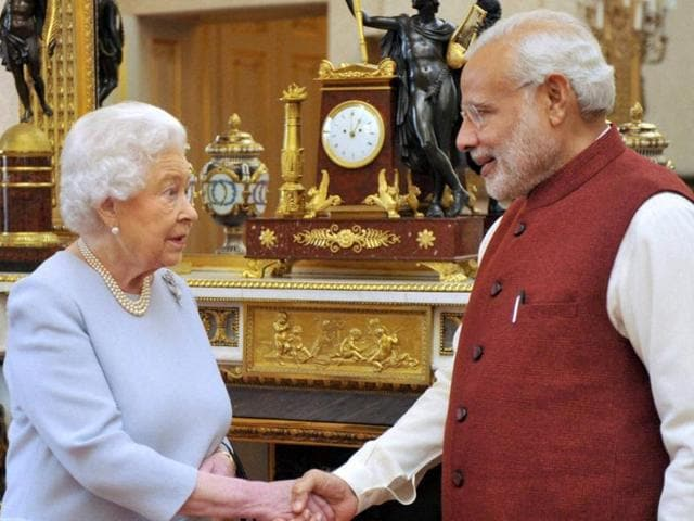 Modi in UK,Modi meets Queen Elizabeth II,Prime Minister Narendra Modi