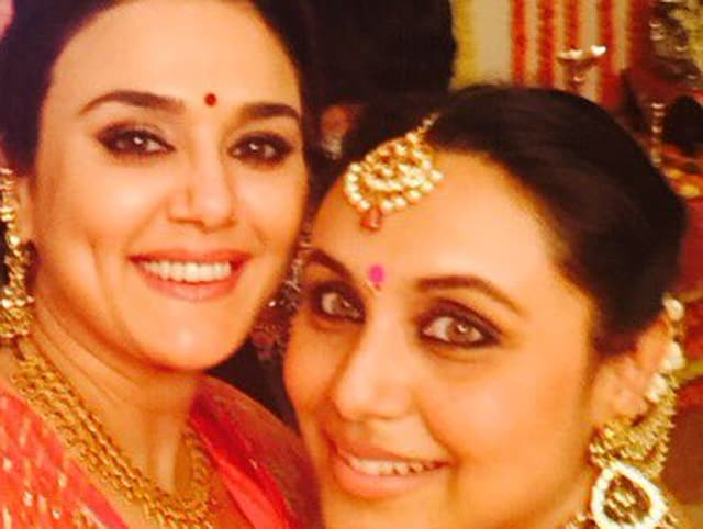 Preity Zinta takes a selfie with Rani Mukerji. Rani is expecting her first child in January next year.