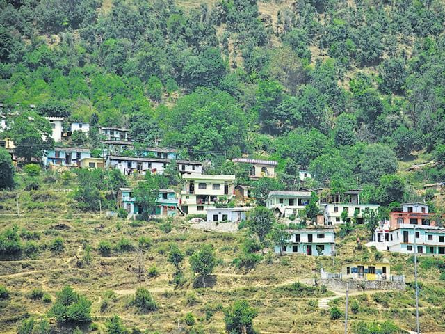 A view of Gairsain in Chamoli district.