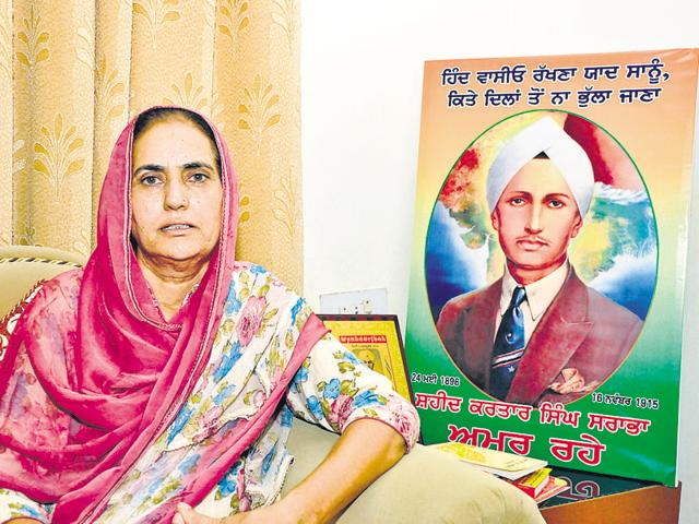 "Sukhdev Kaur, 55, the granddaughter of Sarabha's sister Dhan Kaur, said they had for long been demanding from the government to give the status of ""national martyr"" to Sarabha."