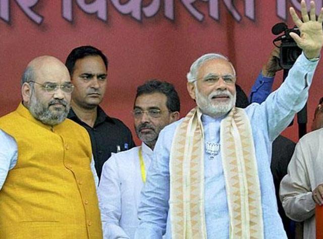 Prime Minister Narendra Modi with BJP president Amit Shah.