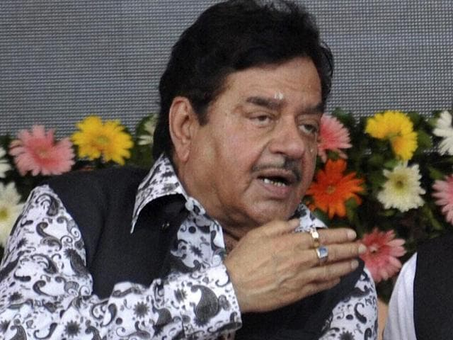 """The axe is likely to fall on three Bihar BJP parliamentarians —Shatrughan Sinha, RK Singh and Bhola Singh —for their alleged """"anti-party activities."""" (PTI Photo)"""