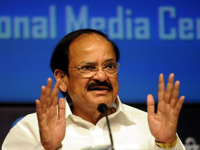 File photo of Union minister of urban development and parliamentary affairs Venkaiah Naidu, in New Delhi.