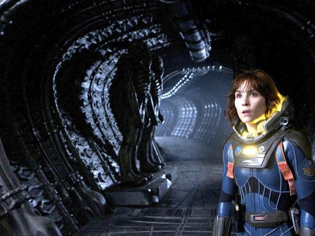Ridley Scott's Prometheus is a 2012 science fiction film starring Noomi Rapace, Michael Fassbender, Guy Pearce, Idris Elba, Logan Marshall-Green and Charlize Theron.